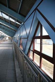 Free POst-Modern Blue Subway Station Royalty Free Stock Photography - 8681507