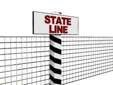 Free State Line Stock Image - 8681771
