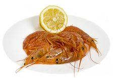 Free Shrimps With Lemon Stock Image - 8681921