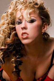 Free Sensual Blond Portrait Stock Photography - 8683192