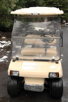 Golf Cart At Hotel Royalty Free Stock Images