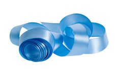 Free Satin Blue Ribbon Stock Image - 8684571