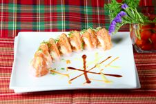 Chef S Special Sushi Roll Royalty Free Stock Images