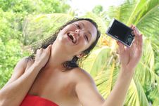 Free Young Woman Taking Self Portrait Stock Images - 8684614