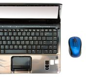 Free Laptop And Wireless Mouse Royalty Free Stock Images - 8684799