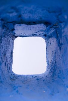 Free The Blue Stone Hole Royalty Free Stock Photography - 8685747