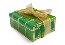 Free Green Gift Box Royalty Free Stock Images - 8686079