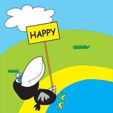Free Happy Crow On The Beach Stock Photo - 8687050