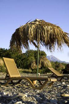 Free Tropic Parasols On The Beach Stock Photo - 8687240