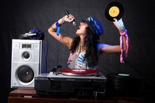 Free Cool DJ In Action Royalty Free Stock Photo - 8688115