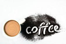 Free Coffee With Milk Royalty Free Stock Image - 8688196