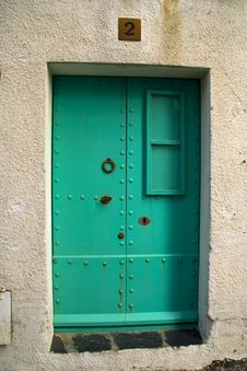 Free Blue Door Stock Photography - 8688292