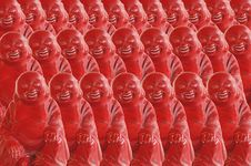 Free Red Buddah Figurines Stock Photos - 8688923