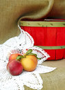 Free Peaches And Basket Still Life Royalty Free Stock Photography - 8697007