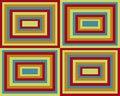 Free Retro Symmetrical Squares Background Royalty Free Stock Images - 8697349