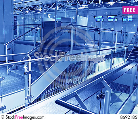 Free Business Hall Blue Royalty Free Stock Photo - 8692185