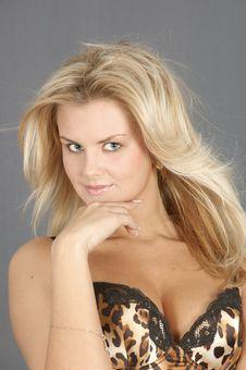 Pretty Blonde Woman Stock Image