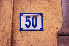 Free Old Dusty Street Number Royalty Free Stock Image - 8690626
