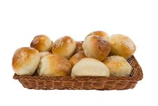 Sweet Buns In Basket Royalty Free Stock Image