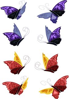 Free A Few Simple Butterflies Stock Photos - 8691303