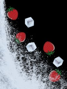 Free Strawberry Splash Royalty Free Stock Photo - 8691645