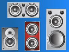 Free 4 Loudspeakers 4 Stock Images - 8691694