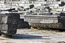 Archaeological Site In Greece Royalty Free Stock Photos