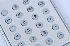 Free Closeup View Of A Calculator Royalty Free Stock Photography - 8691877