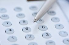 Free Closeup View Of A Calculator Royalty Free Stock Photos - 8691888