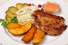 Free Meat With  Potato Stock Photos - 8692073