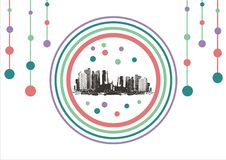 Free City On Abstract Background Royalty Free Stock Images - 8692309