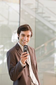 Free A Confident Smiling Business Man Stock Photo - 8692510