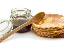 Free Pancakes With Honey Stock Images - 8692624