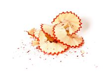 Free Red Pencil Shavings Royalty Free Stock Photos - 8692688