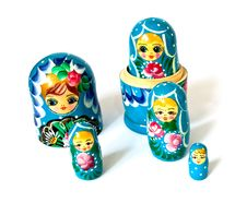 Free Russian Dolls Isolated Stock Photography - 8692842