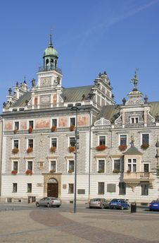 Town Hall In Kolin, Czech Republic Stock Photography