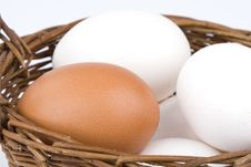 Free Eggs In A Basket Stock Photography - 8693062