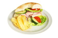 Free Ham Salad Roll Stock Photography - 8693242