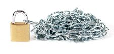 Free Padlock And Chain Royalty Free Stock Photography - 8693427