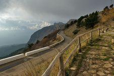 Mountain Road On Ah-petri Royalty Free Stock Photo