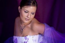Free Violet Model Stock Photography - 8693502