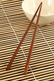 Free Chopstick And Bowl Royalty Free Stock Image - 8694046
