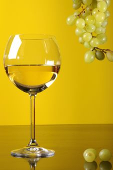 Grapes And Glass Of Wine Stock Image