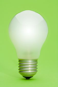 Free Lightbulb On Green Royalty Free Stock Photo - 8695355