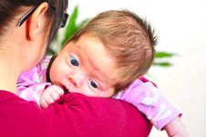 Free Baby Girl And Mother Stock Image - 8695771