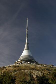 Ještěd Hotel & TV Tower, Liberec, Czech Republic Royalty Free Stock Photo
