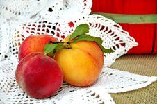 Free Fresh Peaches Still Life Stock Photo - 8697000