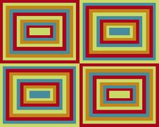 Retro Symmetrical Squares Background Royalty Free Stock Images