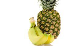 Pineapple And Banana Royalty Free Stock Photography
