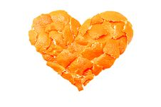 Free Tangerine Heart Stock Photo - 8697750